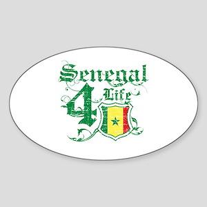 Senegal for life designs Sticker (Oval)