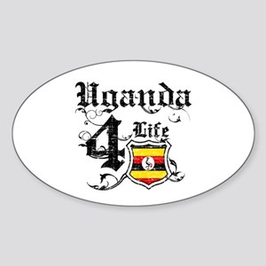 Uganda for life designs Sticker (Oval)