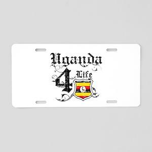 Uganda for life designs Aluminum License Plate