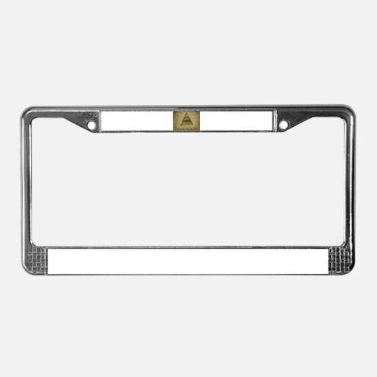 Eye on Your Dollar License Plate Frame
