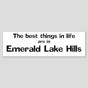 Emerald Lake Hills: Best Thin Bumper Sticker