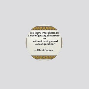 what charm is quote Camus Mini Button