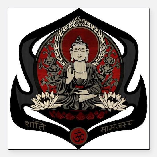 "Siddharta Gautama Buddha Square Car Magnet 3"" x 3"""