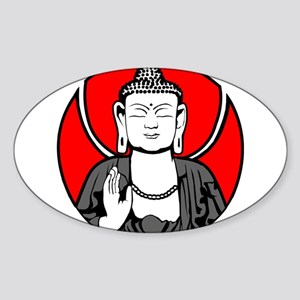 Buddha Soul Window Sticker (Oval)