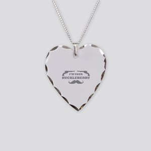 I'm Your Huckleberry Necklace Heart Charm