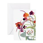 Atom Flowers Greeting Card