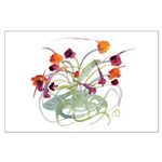 Atom Flowers Large Poster