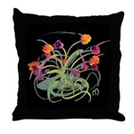 Atom Flowers Throw Pillow