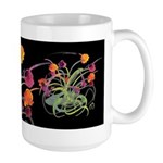 Atom Flowers Large Mug
