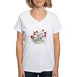 Atom Flowers© Women's V-Neck T-Shirt