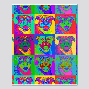 Op Art Pitbull Small Poster