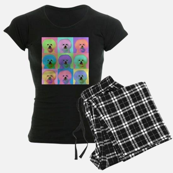 Op Art Bichon Pajamas