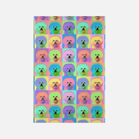 Op Art Bichon Rectangle Magnet