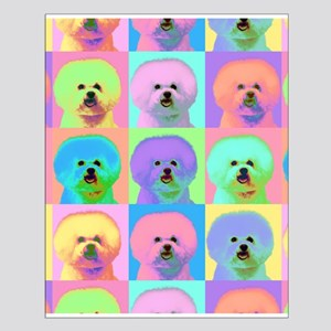 Op Art Bichon Small Poster