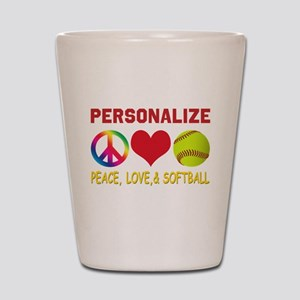 Personalize Girls Softball Shot Glass