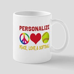 Personalize Girls Softball Mug