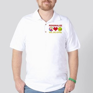 Personalize Girls Softball Golf Shirt
