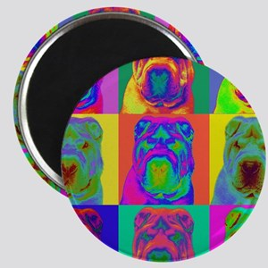 Op Art Shar Pei Magnet