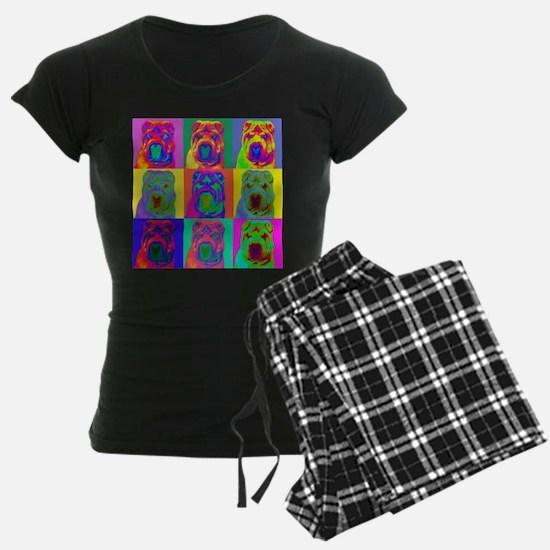 Op Art Shar Pei Pajamas