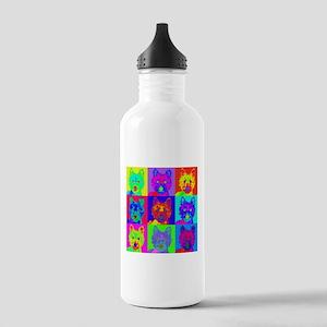 Op Art Westie Stainless Water Bottle 1.0L