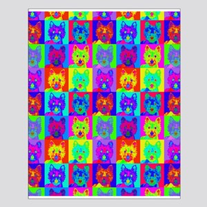 Op Art Westie Small Poster