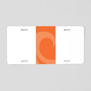 Wave Aluminum License Plate