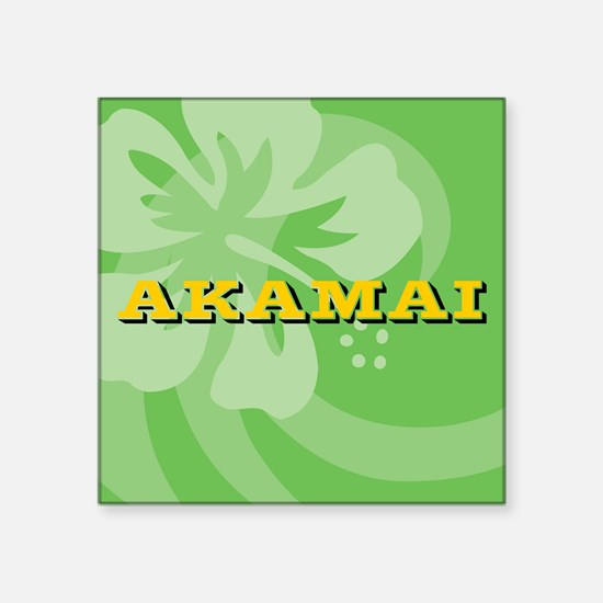 "Akamai Square Sticker 3"" x 3"""