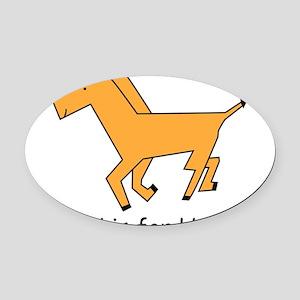 horse10 Oval Car Magnet