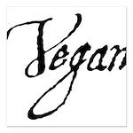 Vegan Square Car Magnet 3