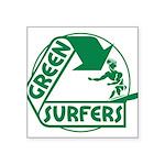 Green Surfers 10 Square Sticker 3