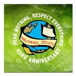 Earth Day Square Car Magnet 3