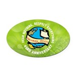 Earth Day Oval Car Magnet