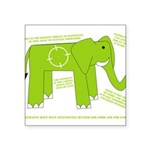 Elephant Square Sticker 3
