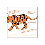 Tiger Facts Square Sticker 3