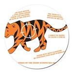 Tiger Facts Round Car Magnet