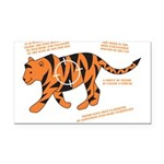 Tiger Facts Rectangle Car Magnet