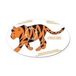 Tiger Facts Oval Car Magnet