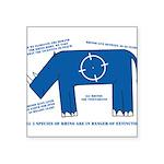 Rhino Facts Square Sticker 3