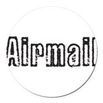 Airmail Round Car Magnet