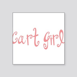 "Cart Girl Square Sticker 3"" x 3"""