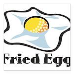 Fried Egg Square Car Magnet 3
