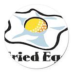 Fried Egg Round Car Magnet