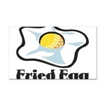 Fried Egg Rectangle Car Magnet