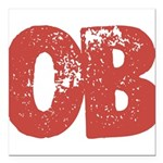 OB Square Car Magnet 3