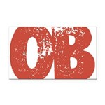OB Rectangle Car Magnet