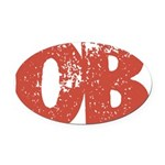 OB Oval Car Magnet
