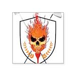 Skull Square Sticker 3