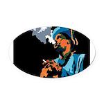 Jazz Portraits Oval Car Magnet