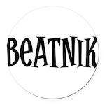 Beatnik10 Round Car Magnet