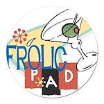 FrolicPad10 Round Car Magnet